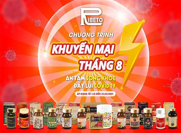 Ribeto Thu Hien Chuong Trinh Khuyen Mai Thang 8 2021 Dung Bo Lo Co Hoi  Min